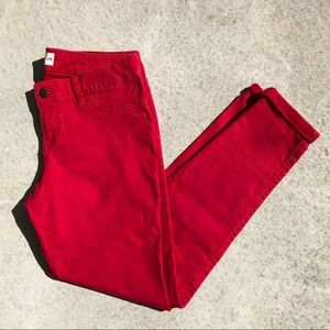 Hollister Red Mid-Rise Skinny Jeans